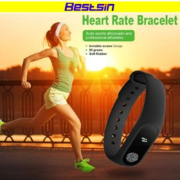Wholesale heart monitors for women - Bestsin M2 Smart Wristband M2 Smart Bracelet Heart Rate Monitor Pedometer Waterproof Bluetooth For iOS Android For Men Women