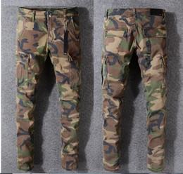 tyga déchiré jeans Promotion NOUVELLE-Z 2018 JAY CAMO PANTS SLIM TYGA camo jean Justin Bieber pantalon hip-hop mode NEW WEST camouflage KANYE