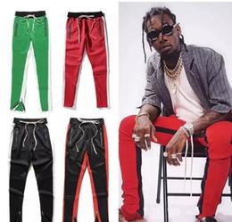2018 Nuevo color verde Quinta colección Justin Bieber cremallera lateral pantalones casuales hombres hiphop jogger pantalones estilo 12 S-XXL pantalones de chándal desde fabricantes