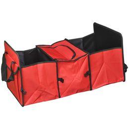 Wholesale Auto Care Bolsa de almacenamiento del maletero del coche Caja de almacenamiento plegable para camiones Oxford Cloth Caja de almacenamiento del organizador del bolso del maletero del coche organizada con un bolso más fresco