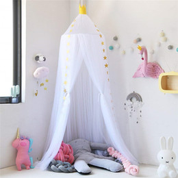 Princess Bed Canopy Mosquito Net Play Tent for Kids Playing Reading Dome Netting Curtains Baby Boys and Girls Games Room Park Tour