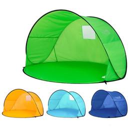 Barraca verde on-line-Prático Dustproof Tent Quatro Cores Rápidas Tendas de Abertura Automática Semi Forma Círculo Protetor Solar Ultravioleta À Prova de Tabernáculo Verde 49 9 km B