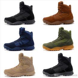 Wholesale combats shoes - 2018 GSG-9.3 special help desert tactics men climbing hiking combat training running shoes outdoor tactical boots desert boots size 40-46