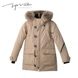 Wholesale Womens Long Down Hooded Parkas - JUPE VENDUE Winter Womens Thick Fur Collar Down Coats Jacket Warm Parkas Long Loose