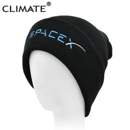 rocket caps Promo Codes - CLIMATE Spacex Men Beanine Hat Youth Winter Hat  Cap Space X 7c35aa44bcc
