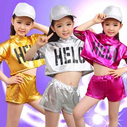 2019 kinder hip hop kostüm Ballroom Jazz Dance für Mädchen Jazz Dance Kostüme für Mädchen Kid Hip Hop Kinder Performance Pailletten Kostüme Mädchen rabatt kinder hip hop kostüm