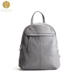 high quality stylish backpacks Australia - GENUINE LEATHER ZIP DETAIL BACKPACK - Women's Female Designer Stylish Fashion High Quality Structured School Travel Laptop Bag