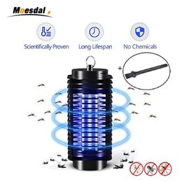 zapper lamp Coupons - 110V 220V Mosquito Killer Lamp Bug Zapper Killer US EU plug LED Lantern Fly Catcher Flying Insect Patio Outdoor Camping lamps