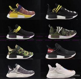 Wholesale Woven Casual Shoes - 2017 NMD PW Pharrell X Williams Human Race Woven Boost for Super Basf Company quality Fashion Weaving Casual Runner Running Shoes Size 40-45