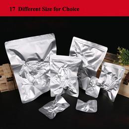 2020 bolsas de papel de aluminio al por mayor Diferentes tamaños Bolsas de papel aluminio Aluminio Bolsas Mylar Bolsas de sellador al vacío para almacenamiento de alimentos Herramientas de cocina para el hogar Bolsa de embalaje plana al por mayor bolsas de papel de aluminio al por mayor baratos