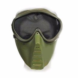 Máscara protectora completa de paintball online-1pcs máscara táctica de Paintball de la cara completa máscara de Airsoft máscara protectora al aire libre de la caza