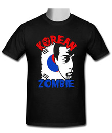 Wholesale zombies t shirt - 2018 New Summer T-shirts New The Korean Zombie - Chan Sung Jung black T-shirt size S to 2XL Cotton Tees Free Shipping