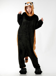 Wholesale onesies kigurumi pajamas - Raccoon Pajamas Adult Onesies Christmas Animal Cosplay Costume Cartoon Racoon Onesie Kigurumi Pyjamas Unisex Pijamas Sleepwear
