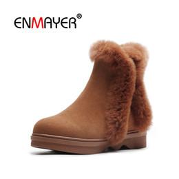 32df732b751 8 Fotos Compra Online Causal señaló los zapatos-ENMAYER Mujer Botines Botas  cortas Zapatos de invierno Punta