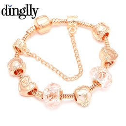 83ee46d5f210 DINGLLY Rose Gold Color Cute Rabbit Charm Brand Bracelet for Women Kids  Fashion Jewelry Christmas Gifts