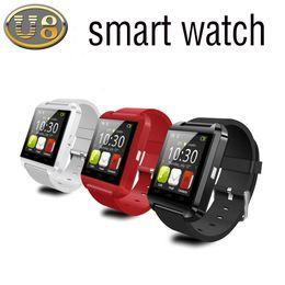 дешевые часы bluetooth smart Скидка Дешевые U8 Смарт-часы Bluetooth SmartWatches Сенсорный Экран Wirst Часы Спорт напоминание Применить к Android-смартфону DHL Бесплатная доставка