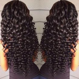 Perruques avant en lacet remy en Ligne-360 pleine perruque de cheveux humains avant de dentelle pour les femmes noires pré plumées 150% de densité corps vague profonde lâche crépus perruque HCDIVA brésilienne