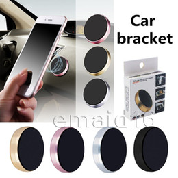 rose gold cell phone Promo Codes - Universal Mini Magnetic Mobile Phone Holder Car Dashboard Bracket Cell Phone Holder Stand For iPhone X 8 SamsungS8 S6 LG Magnet Mount Holder