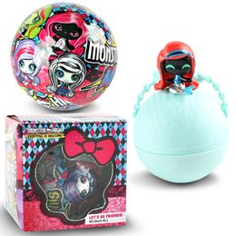 Wholesale High School Toys - Surprise Gift Box Girls Surprise Doll Egg Pet Version Monster High School Elf doll Zombie doll Mania Ball Toys 7cm Toys and Gifts 0C