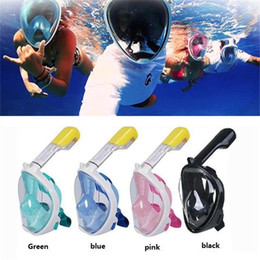 Wholesale Full Face Diving - Underwater Diving Mask With earplugs Snorkel Set Swimming Training Scuba mergulho full face snorkeling mask Anti Fog For Camera M0773