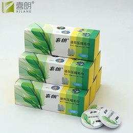Wholesale Magic Wipes - XILANG 18pcs Portable Travel Cotton Compressed Towel 100% Cotton Disposable Towel Magic Towel For Outdoor Sports Wipes Paper Tissue Mask