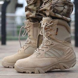 Wholesale Boots Delta - Delta Tactical Boots Men Desert Camouflage Tactical Boots Men Outdoor Combat Army Botas Militares Sapatos Masculino Sports Shoes Man
