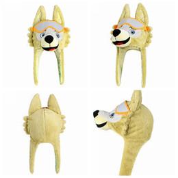 74281627cd78a Chinese 2018 Russia World Cup Mascot Zabivaka Wolf Hat Plush Doll Caps FIFA  World Cup Caps