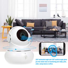 2019 caméra ip panoramique Moniteur de bébé de vision nocturne avec caméra de surveillance sans fil WiFi de surveillance à distance 1080p de caméra IP de sécurité à la maison avec la navigation 3D de panorama promotion caméra ip panoramique