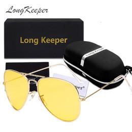 uomini polarizzati occhiali da sole gialli Sconti Occhiali da sole LongKeeperNight Vision Occhiali da sole polarizzati da donna con occhiali da sole con scatola da uomo