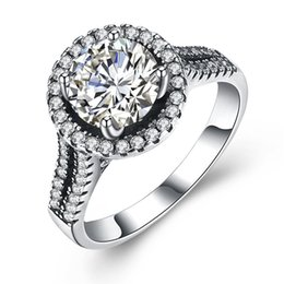 Wholesale Romantic Collection - wholesale New Collection Luxury 925 Sterling Silver Rings Clear CZ Cute Romantic Ring Fine Jewelry Gift for Women