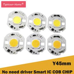 2019 taches blanches en plastique 45MM ronde LED Puce Lumière 10W 12W 15W AC 220V Pas besoin de pilote Smart IC ampoule lampe Pour DIY Chaud Blanc LED Projecteur Projecteur