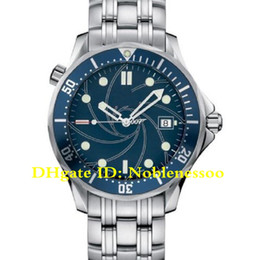 Aço inoxidável profissional on-line-Top Luxury Men's James Bond 007 Blue Dial Stainless Steel Casino Royale Limited Edition Mens Watch 2226.80.00 Professional Automatic Watches