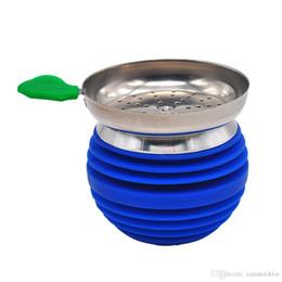 narguilé charbon de bois Promotion HoneyPuff Unbreakable APPLE Bol en silicone Shisha Bowl pour narguilé avec support de charbon de bois narguilé tête brûleur de charbon de bois accessoires de maintien de la chaleur