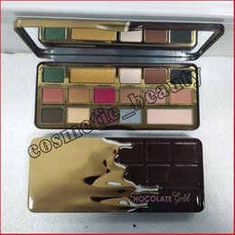 Wholesale Wholesale Faced Eye Shadow - Faced Makeup Palette COCOA Eye Shadow Chocolate Gold Eyeshadow Palette 16 colors metallic matte natural eyeshadow palette