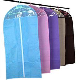 Sacs de rangement pour manteaux en Ligne-NOUVEAUTÉS 1 pc Vêtements Manteau Dress Garment Dress Suit Dustproof Storage Cover Protector Sacs