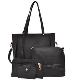 Tienda hermosa online-Venta caliente 4 unids / lote EUR Y EE. UU. Bolsos de compras de cuero de moda bolso de la señora hermosa bolsa de viaje de Las Mujeres bolsos de hombro del bolso de maquillaje