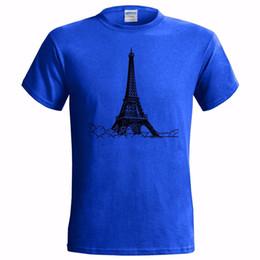 Construir torre eiffel online-EIFFEL TOWER SKETCH ART MENS T SHIRTS FRANCIA EDIFICIO NACIONAL FRANCÉS Envío gratis divertido Unisex camiseta casual regalo