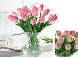 Canada Luyue 31 pcs Tulipe Fleurs Artificielles PU Décoration De Mariage Simulation Bouquet De Mariée Calla Real Touch Flores Para Maison Jardin Guirlande Offre