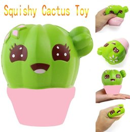 Wholesale Home Decoration For Kids - Squishy Jumbo Cactus Green Slow Rising Toys Phone Charms Stress Relieve Kawaii Cute Squeeze Home Decorations Gift for Kids