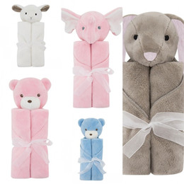 Wholesale Wholesale Care Bears - New Children Plush Blankets Crystal Cashmere Bag Cartoon Bear Baby Care Soft Nursery Bedding Air Conditioning Blanket Hot Sale 38am Z