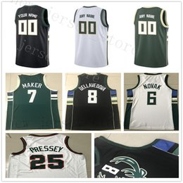 jersey basketball 35 Promo Codes - NCAA College Printed City 35 Mirza  Teletovic Jersey Green Black a956c3535