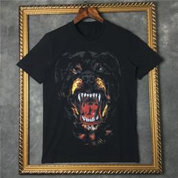 chemises d'impression 3d Promotion 2019 été hommes marque t-shirt à manches courtes 3D Rottweiler designer designer occasionnel t-shirt vêtements de mode en coton t-shirts