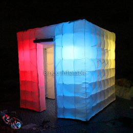 Wholesale Photo Booth Tent - Portable Photo Booth 8ft * 8ft * Lighting Inflatable Cube Camping Tent with Free Blower Inflatable toys for children
