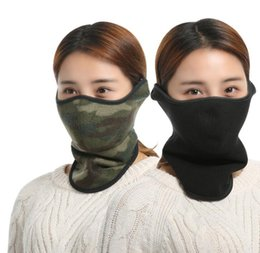 Wholesale thermal face - Winter Thermal Fleece Bike Half Face Mask Outdoor Sport Snowboard Skiing Cycling Warm Protective Mask Scarf Windproof Dustproof mask KKA4075