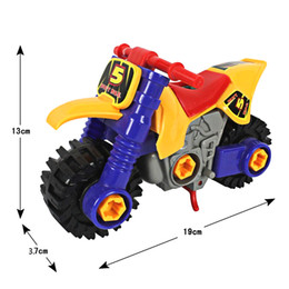 Wholesale diecast bicycles - Creativity Assembled Toys DIY Disassembled Motorcycle Model Kids Children's Educational Diecast Toy With Screwdriver