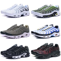 Wholesale Max Tn Sports Shoes - 2018 Maxes TN Running Shoes Men Blue Sport Trainers Camouflage Plus Maxes Shoes Chaussure Femme Homme Man Replica Sneakers 40-46