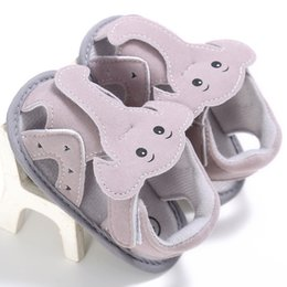 elephant shoes Promo Codes - Summer Baby Shoes Cotton Fabric Soft Sole Elephant Nose Baby Sandals Cute Newborn Infant Shoes Toddler Boys Sandals
