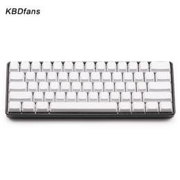 teclados teclados Rebajas Blanco negro naranja azul en blanco gruesa PBT OEM perfil 61 ANSI Keycaps para MX cambia dz60 gh60 teclado mecánico