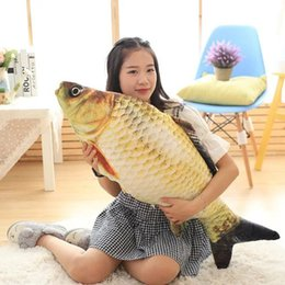 Wholesale Staff Animal - Hot Cute Staffed Soft Animal Fish Plush Toys Pillow Creative Pillow Cushion Gift Kids Toy Christmas Gifts LXY9 DE17