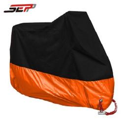 Wholesale motorbike waterproof - Waterproof Moto motorbike orange M L XL XXL XXXL XXXXL Moped Scooter Rain UV Dust Motorcycle Cover